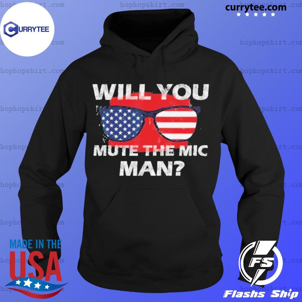 Visual Debate 2020 Second Debate Mute The Microphone Man s Hoodie