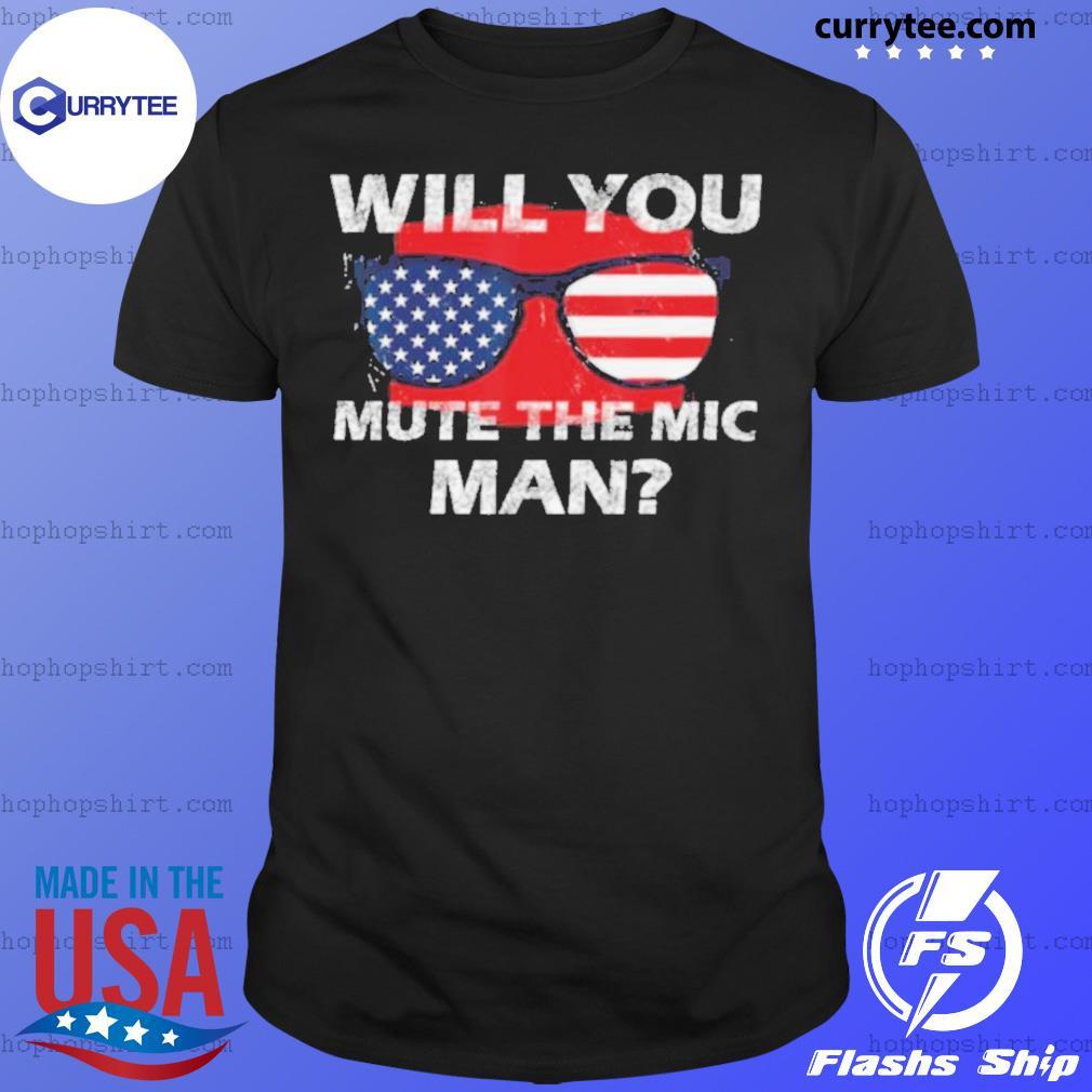 Visual Debate 2020 Second Debate Mute The Microphone Man shirt