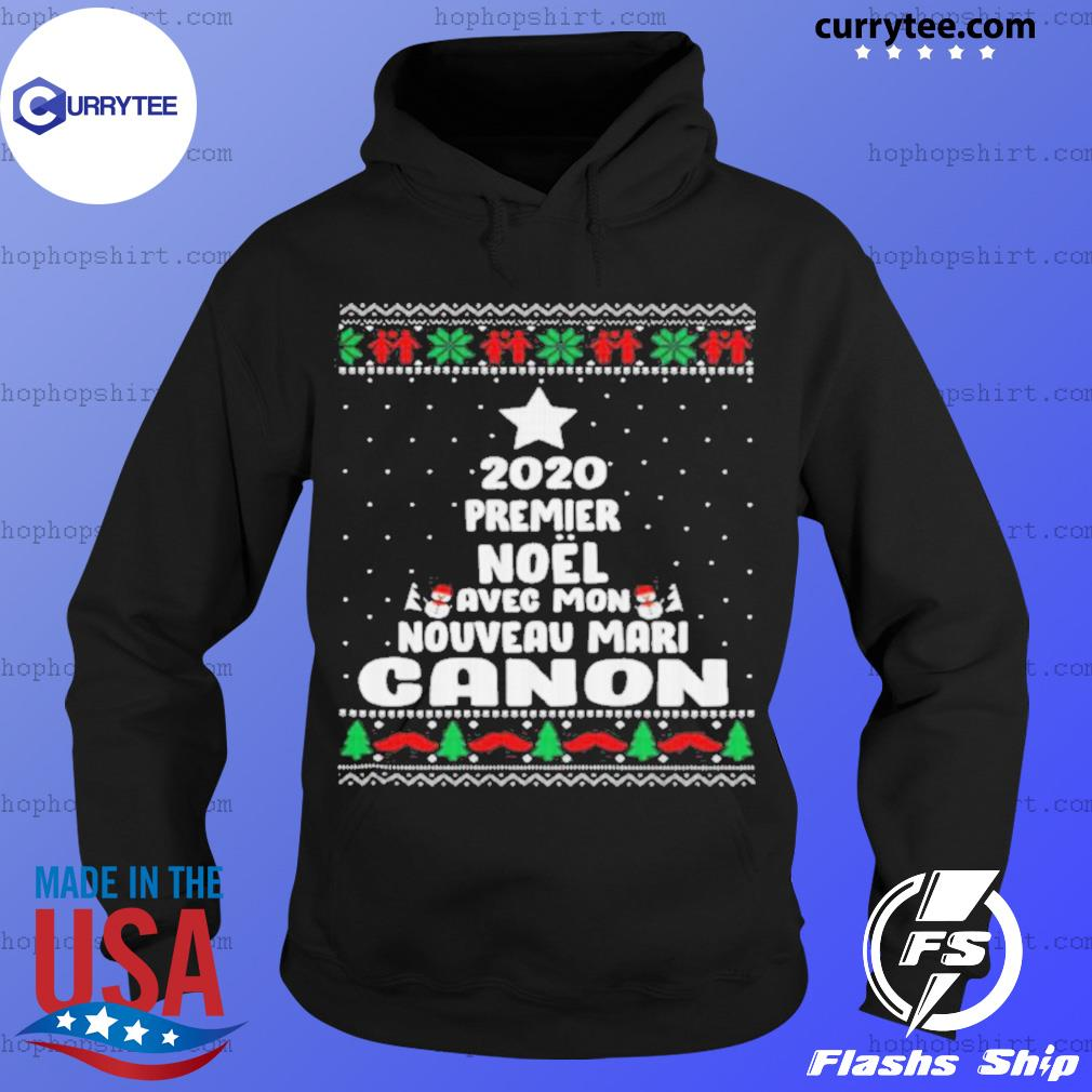 2020 Premier Noel Avec Mon Nouveau Mari Canon Ugly Christmas sweats Hoodie