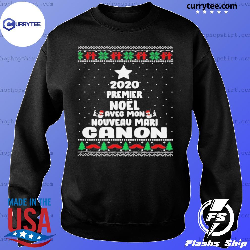 2020 Premier Noel Avec Mon Nouveau Mari Canon Ugly Christmas sweatshirt