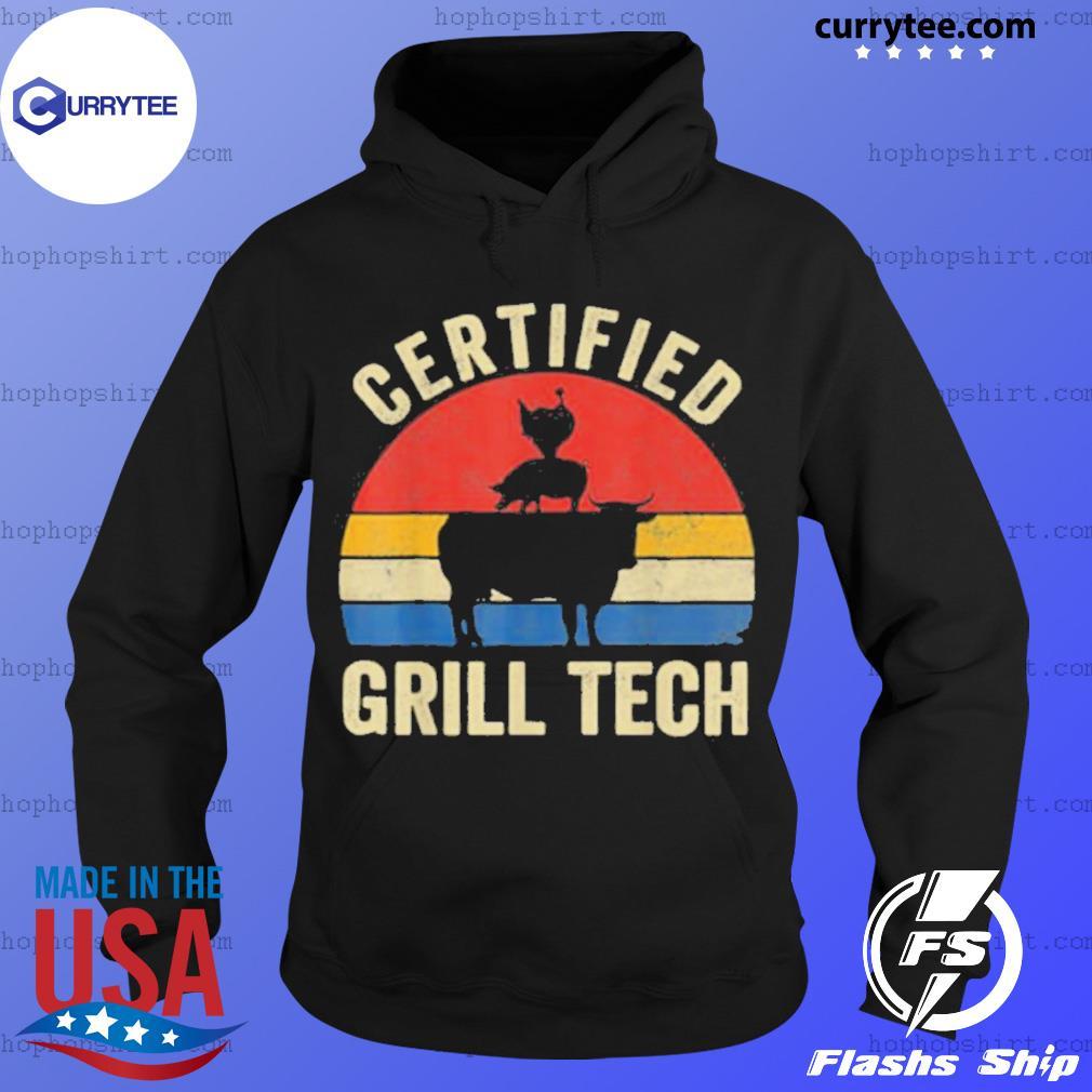 Chicken Pig Cow Certified Grill Teach Vintage Retro Shirt Hoodie