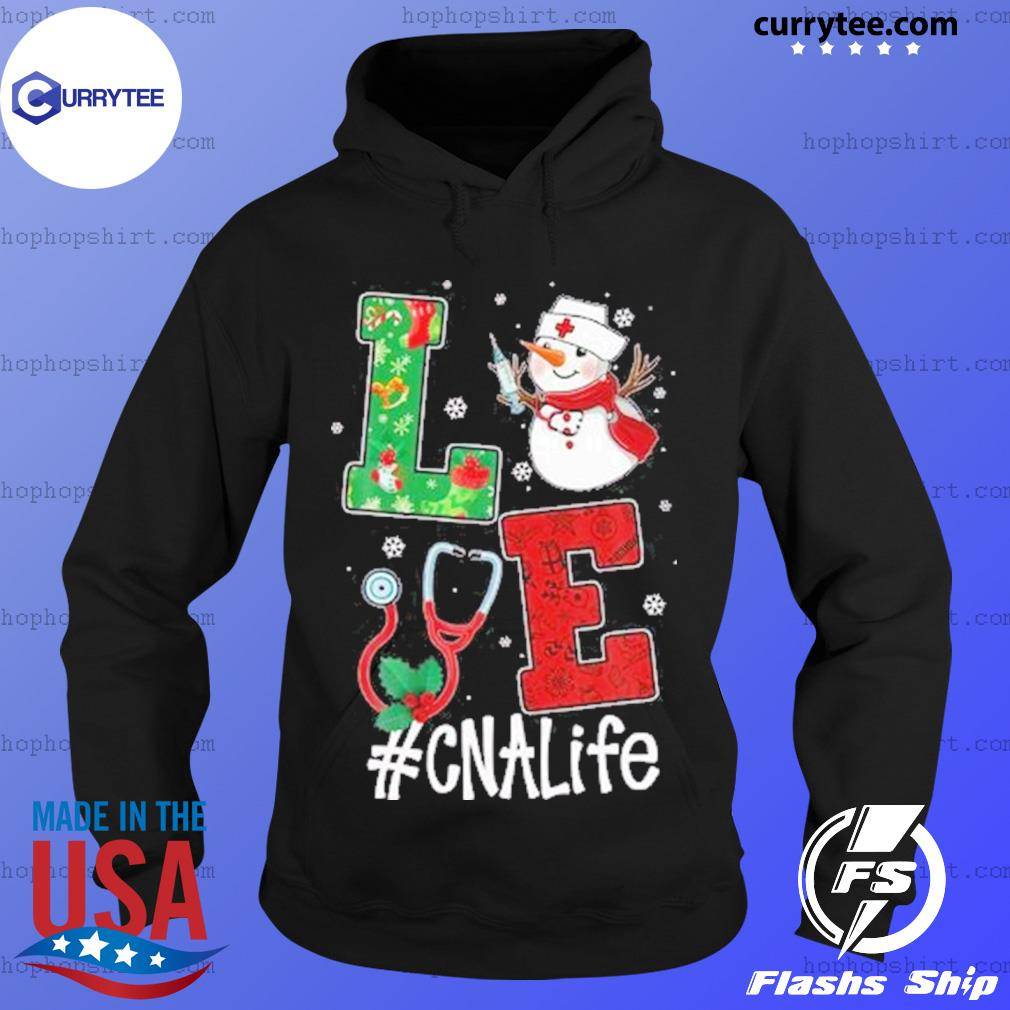 Christmas 2020 SweatShirt, Love CNALife Long Sleeve Snow Man Hoodie