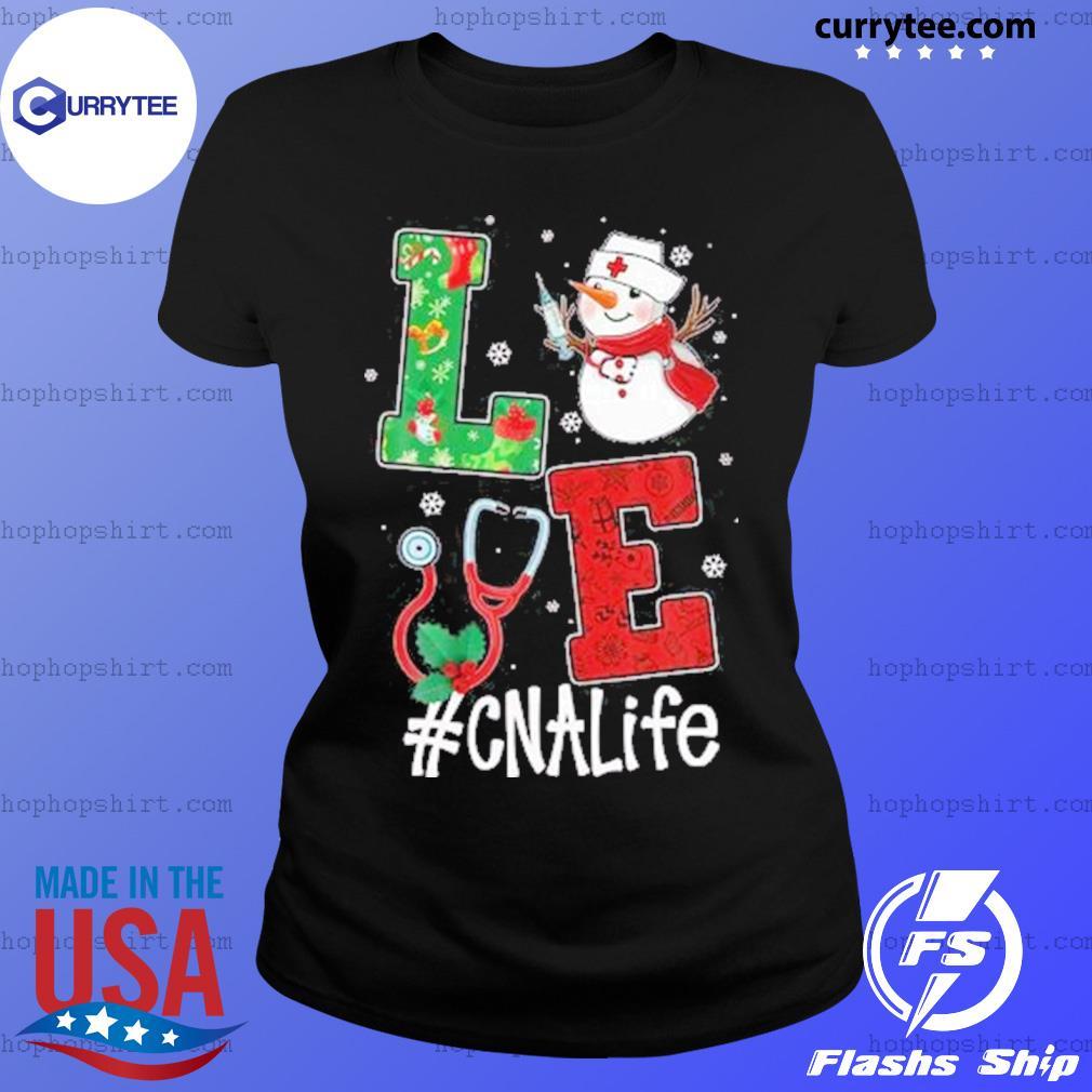 Christmas 2020 SweatShirt, Love CNALife Long Sleeve Snow Man Ladies Tee