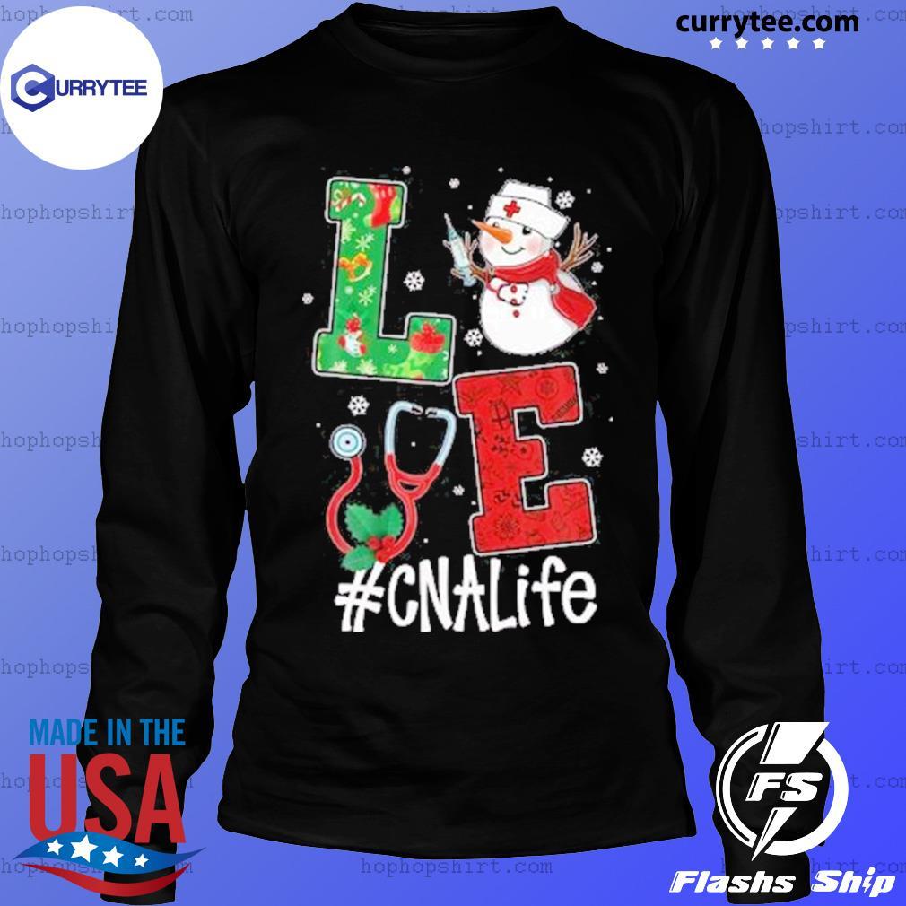 Christmas 2020 SweatShirt, Love CNALife Long Sleeve Snow Man LongSleeve