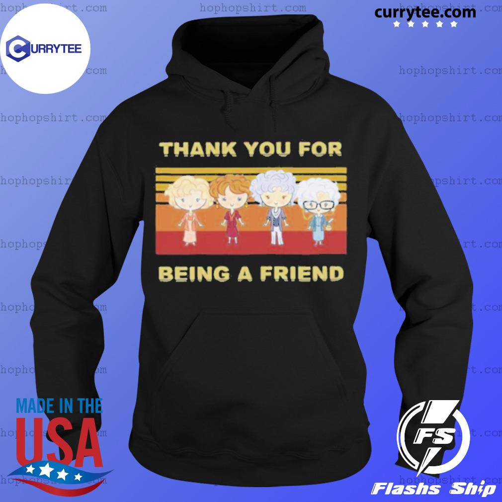 Golden Girls Thank You For Being A Friend Vintage Retro s Hoodie