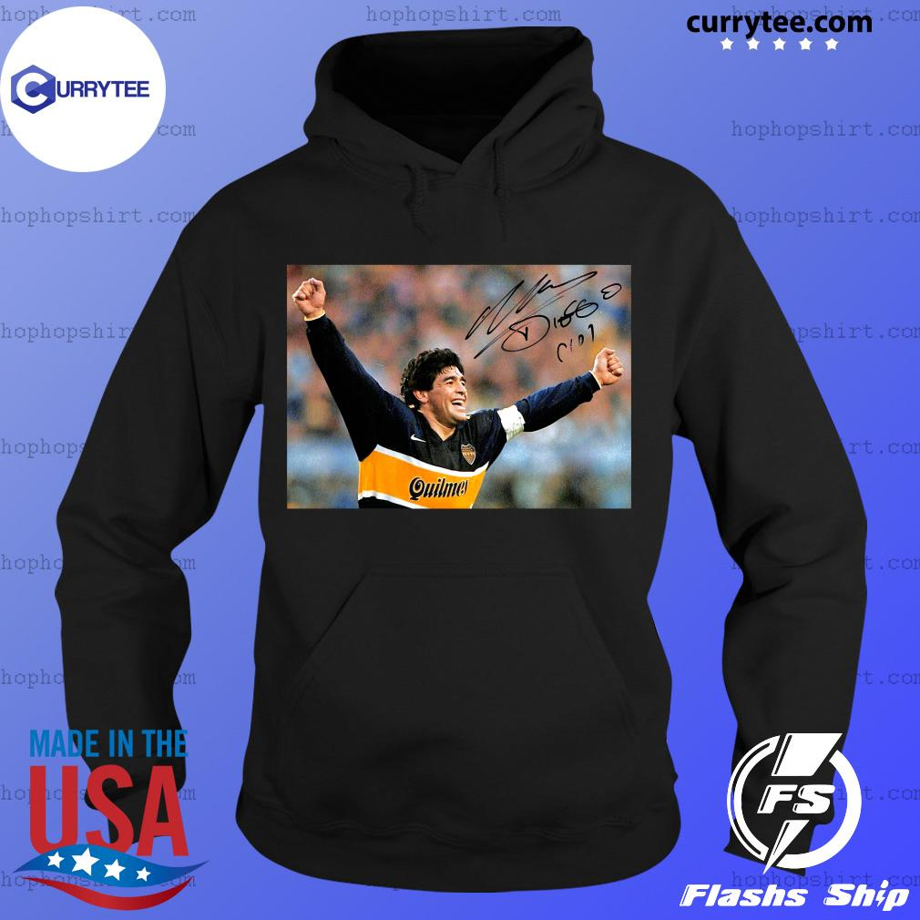 RIP Diego Maradona 1960 2020 Legend Never Die Signature Shirt Hoodie