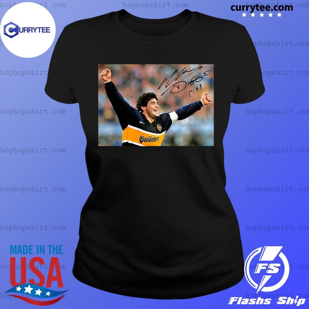 RIP Diego Maradona 1960 2020 Legend Never Die Signature Shirt Ladies Tee