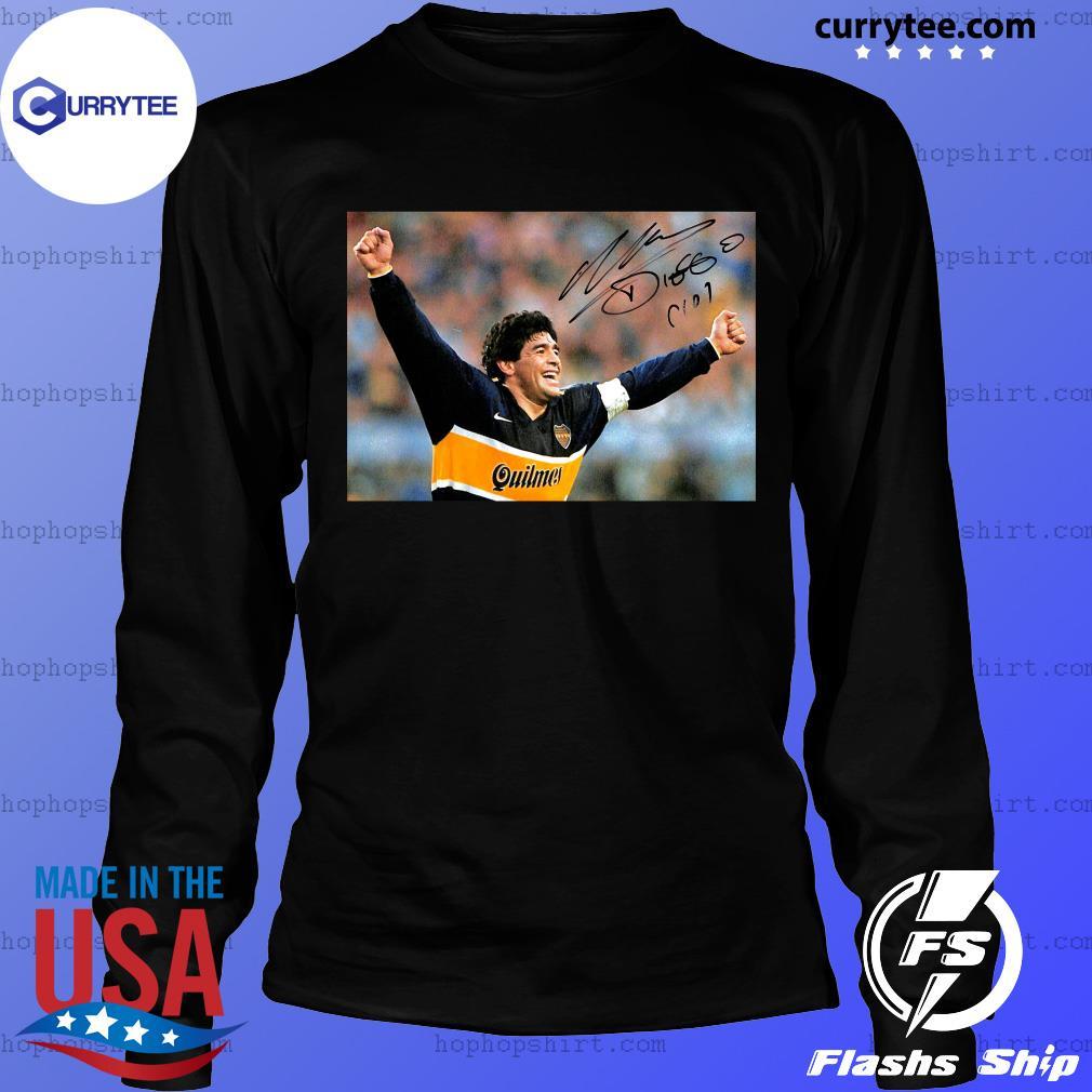 RIP Diego Maradona 1960 2020 Legend Never Die Signature Shirt LongSleeve
