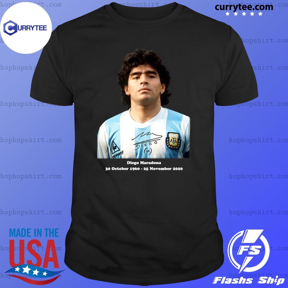 Rip Diego Maradona 30 October 1960 - 25 November 2020 Signature Shirt