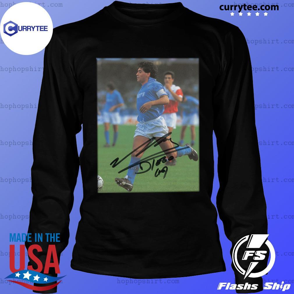 Rip Diego Maradona Legend Never Die Signature Shirt LongSleeve