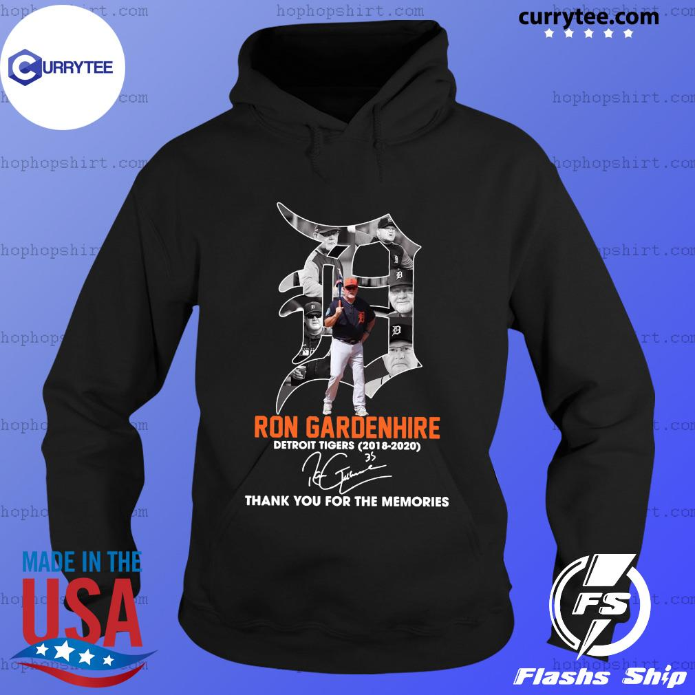 Ron Gardenhire Detroit Tigers 2018 2020 Thank You For The Memories Signature Shirt Hoodie
