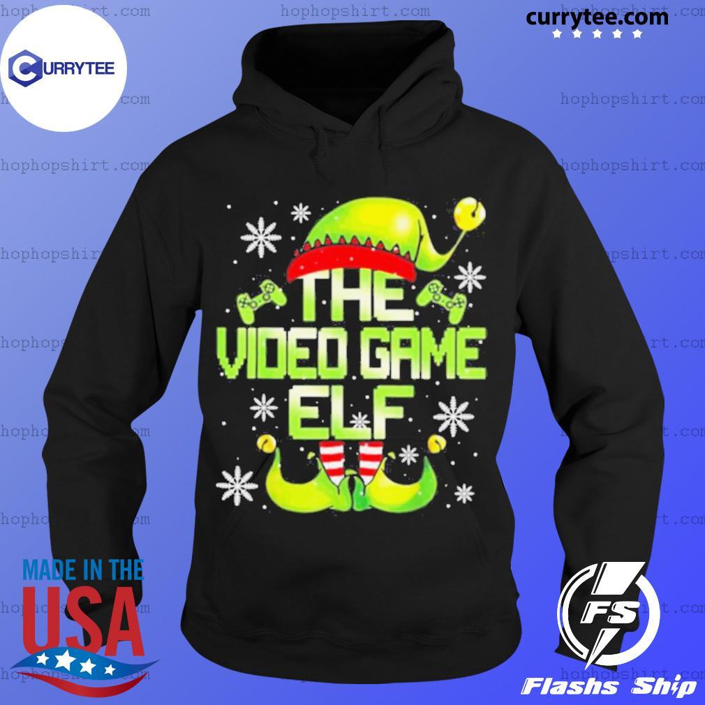 The Video Gamer Elf Family Matching Video Games Christmas Pajama sweats Hoodie
