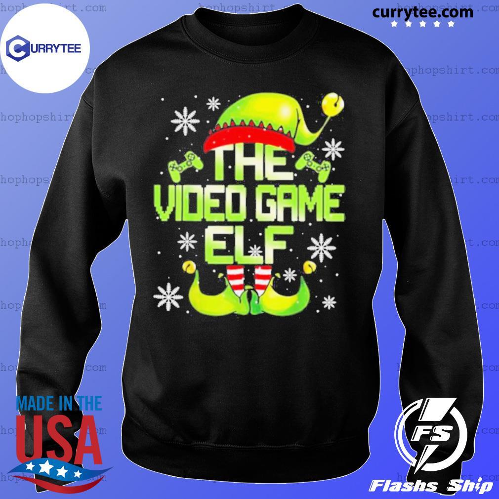 The Video Gamer Elf Family Matching Video Games Christmas Pajama sweatshirt