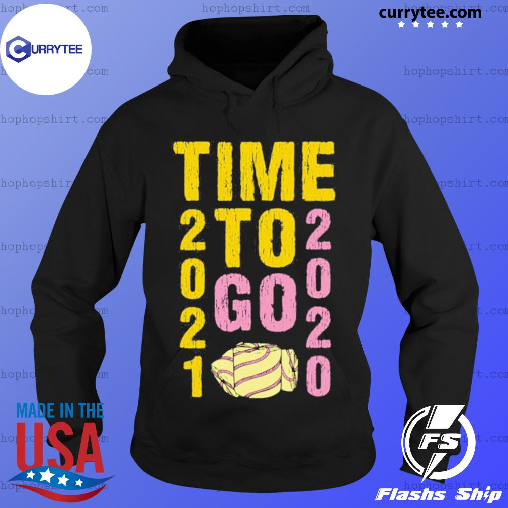 Time To Go 2020 Goodbye 2020 Hello 2021 Gold And Pink Toilet Paper s Hoodie