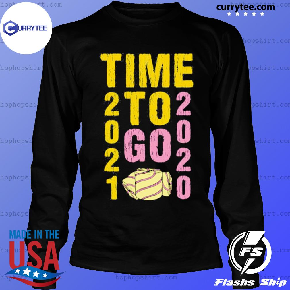 Time To Go 2020 Goodbye 2020 Hello 2021 Gold And Pink Toilet Paper s LongSleeve