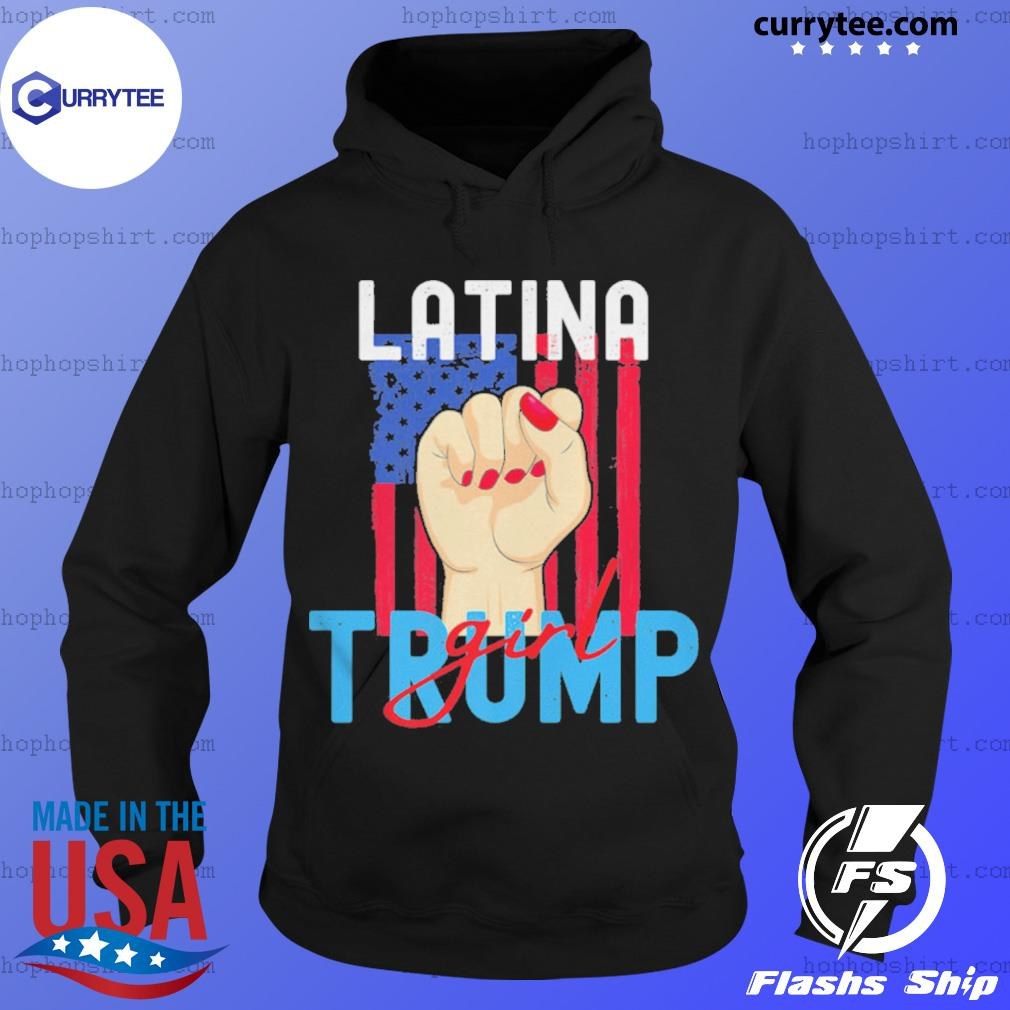 Vintage Latina Trump Girl Still My President Pro Trump US Flag s Hoodie