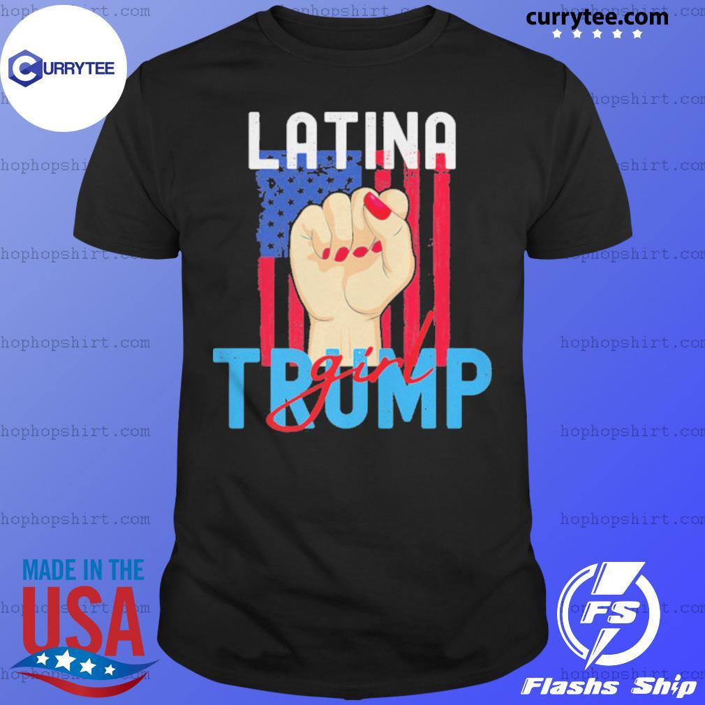Vintage Latina Trump Girl Still My President Pro Trump US Flag shirt