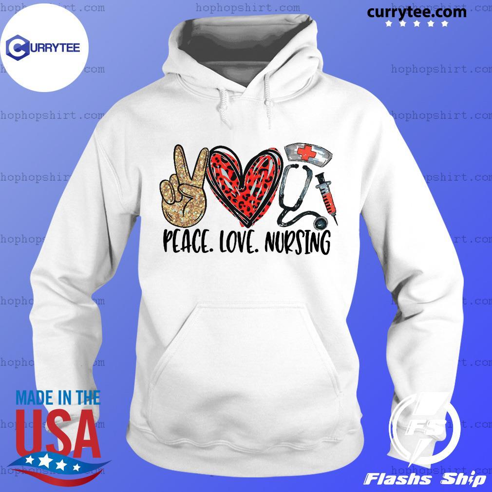 Official Diamond Peace Love And Nursing 2021 Shirt Hoodie