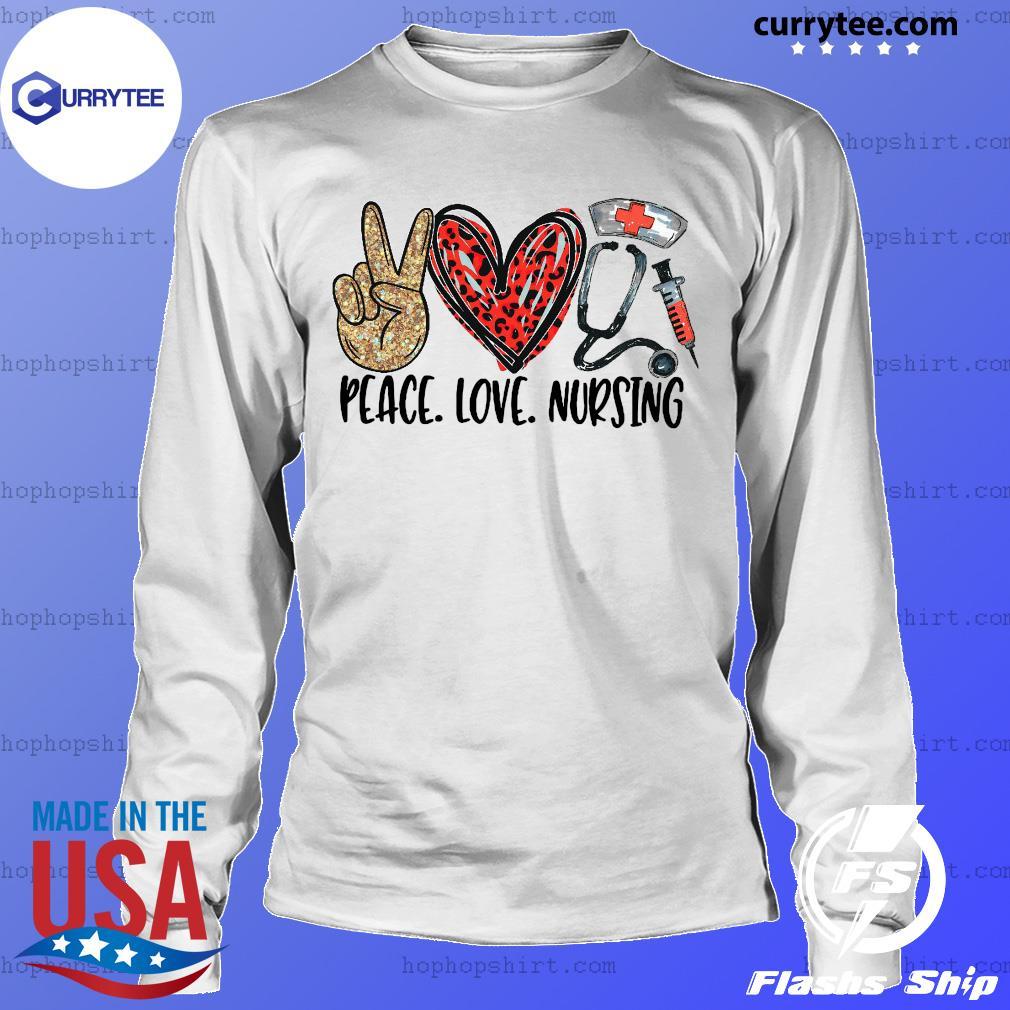 Official Diamond Peace Love And Nursing 2021 Shirt LongSleeve