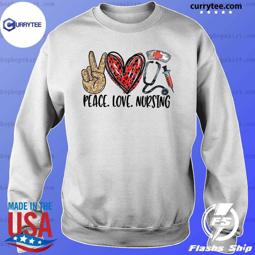 Official Diamond Peace Love And Nursing 2021 Shirt Sweater