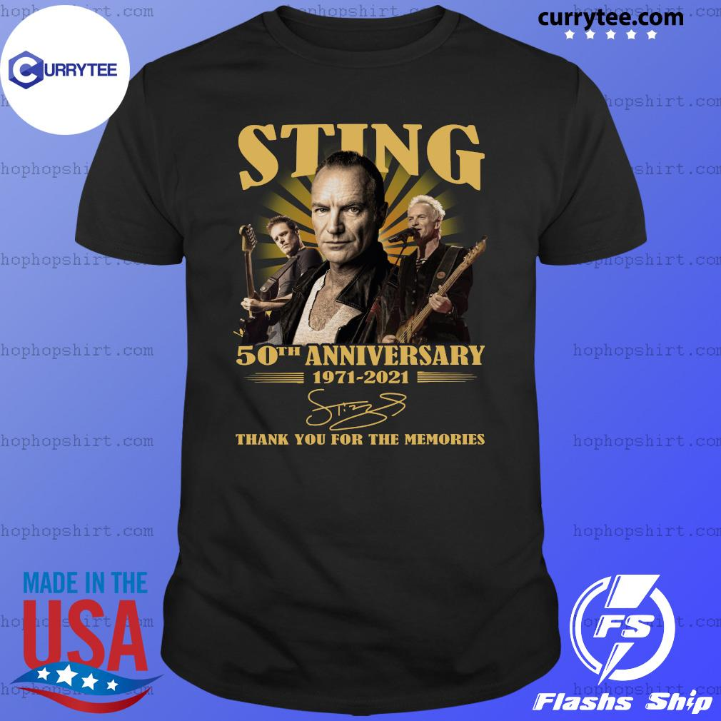 Sting 50th Anniversary 1971 2021 Signature Thank Shirt